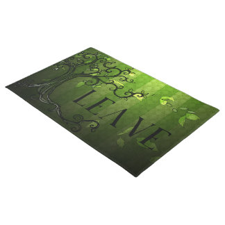 """Door Mat - 'Leave"""" in Summer Green"""