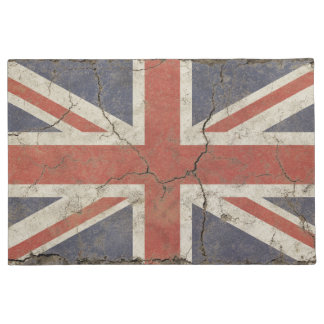 Door Mat print with vintage flag of Britain