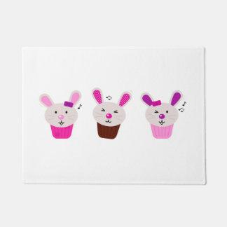 Door mat with Little cute bunnies