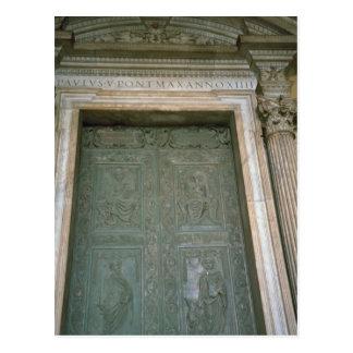 Door of St Peter s Basilica Post Card