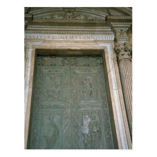 Door of St Peter's Basilica Post Card