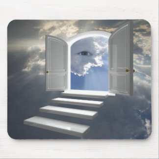 Door opened on a mystic eye mouse mat