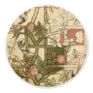 Door pulls with Trellis design by William Morris