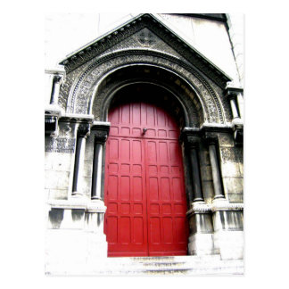 Door to Sacre Coeur Postcard