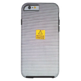 Door with danger warning on tough iPhone 6 case