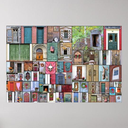 Doors collage 36 x 24 poster