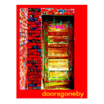 Doors Gone By Postcard