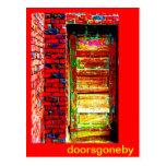 Doors Gone By Postcard