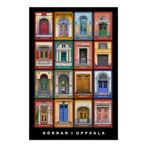 Doors in Uppsala Poster