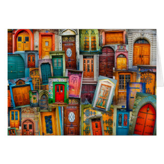 Doors of the World Blank Greeting Card