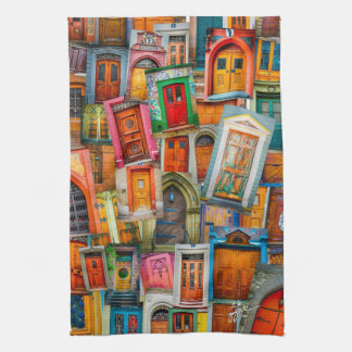 Doors of the World Colorful Kitchen Tea Towel