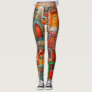 Doors of the World Unique Colorful Leggings