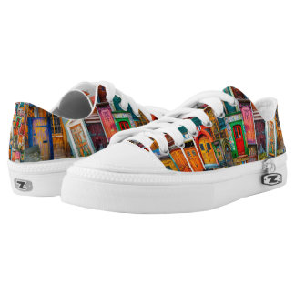 Doors of the World Unique Colorful Low Tops