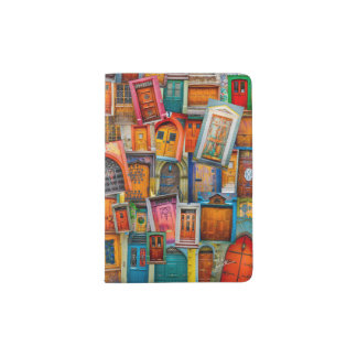 Doors of the World Unique Colorful Passport Holder