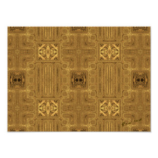 Doors of Zanzibar: Cumin Abstract Print