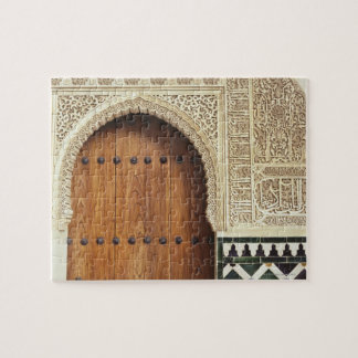 Doorway at the Alhambra palace in Granada, Spain 2 Jigsaw Puzzle