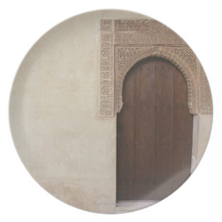 Doorway at the Alhambra palace in Granada, Spain Plate