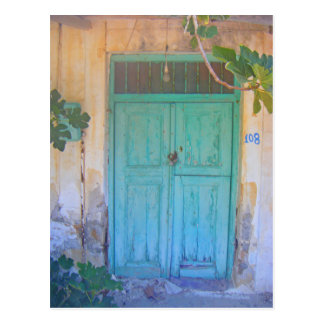 Doorway in Rhodes, Greece Postcard
