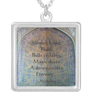 Doorway into Eternity Square Pendant Necklace