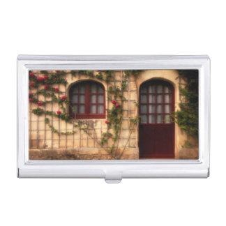 Doorway of rose cottage business card holder