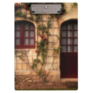 Doorway of rose cottage clipboard