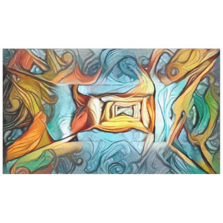Doorway to beyond, abstract expression dreamscape tablecloth