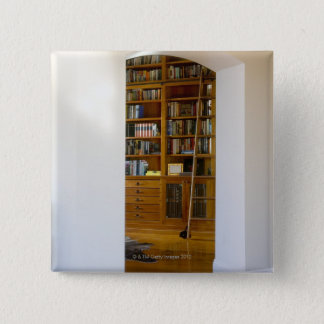 Doorway to Home Library 15 Cm Square Badge