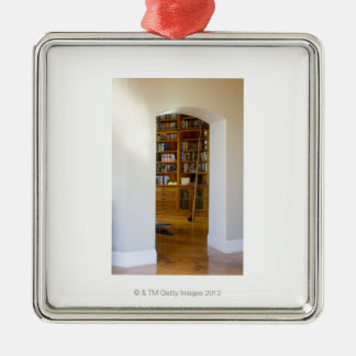Doorway to Home Library Christmas Ornament
