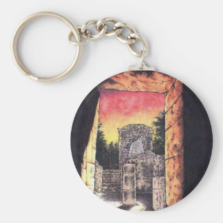 Doorway to the Past Basic Round Button Key Ring