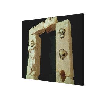 Doorway with Skulls Canvas Print