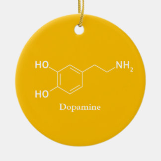 Dopamine Molecule Chemistry Cool Christmas Ornament