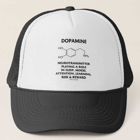Dopamine Neurotransmitter (Chemical Molecule) Trucker Hat