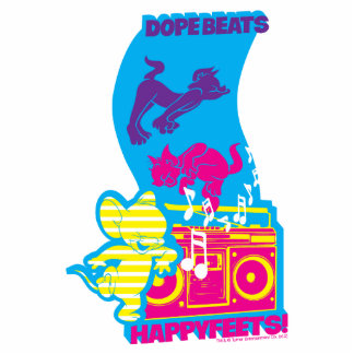 Dope Beats Happy Feets Standing Photo Sculpture