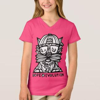 """Dope Evolution"" Girls' V-Neck T-Shirt"