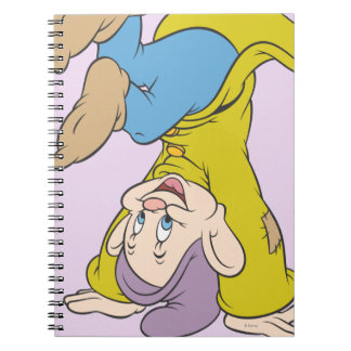 Dopey Doing a Head Stand Spiral Notebook