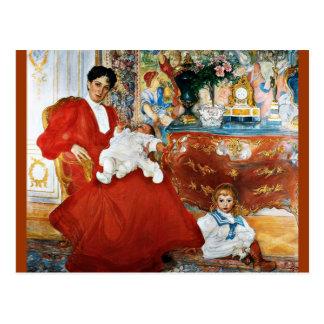 Dora Lamm and Her Sons Postcard