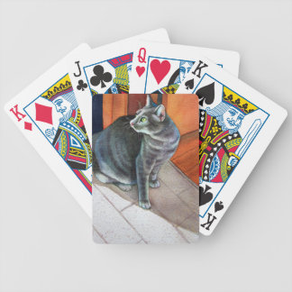 Dora, the Grey Tabby Cat, Bicycle Playing Cards