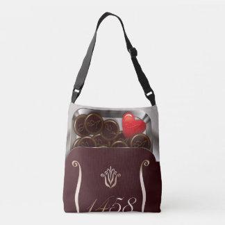 dorajie of heart crossbody bag