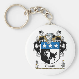 Doran Family Crest Basic Round Button Key Ring