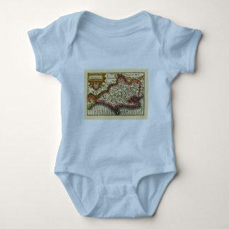 """Dorcetshire"" (Dorsetshire) Dorset County Map T Shirt"