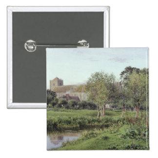 Dorchester Abbey, Near Wallingford 15 Cm Square Badge