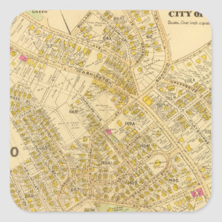Dorchester, Massachusetts 4 Square Sticker