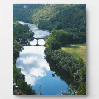Dordogne Chateau Castle River Boat Bridge Water Plaque