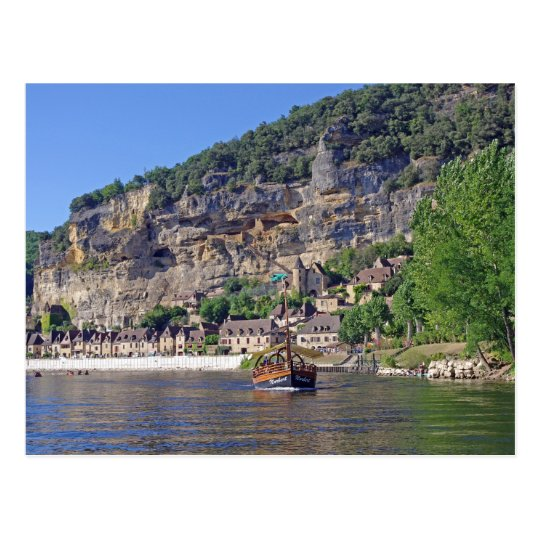 Dordogne River France Postcard