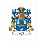Dore Family Crest Post Cards