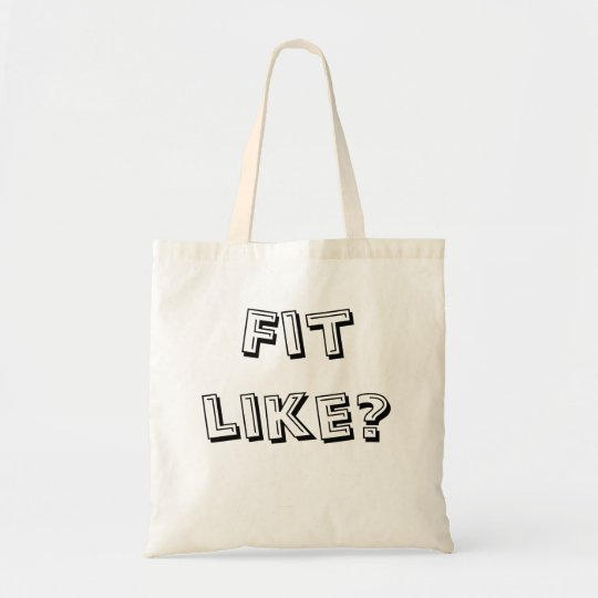 Doric Tote Bag - 'Fit Like?' - Ideal