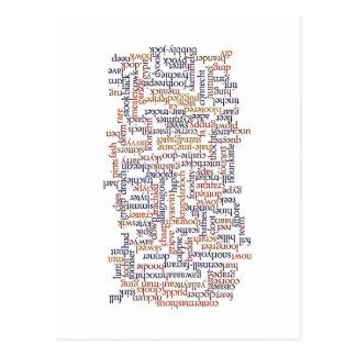 Doric Word Map Postcard