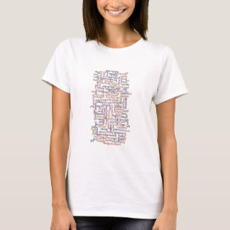 Doric Word Map T-Shirt