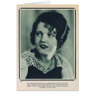 Doris Dawson 1928 vintage portrait card