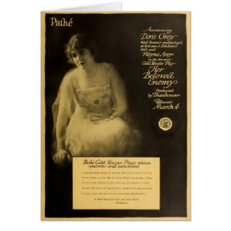 Doris Grey 1917 silent movie exhibitor ad Card